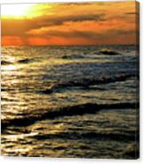 Sunset Over The Gulf Canvas Print