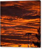 Sunset Over The Judean Hills Canvas Print