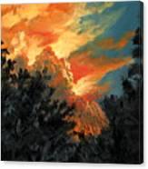 Sunset Over The Little Wekiva Canvas Print