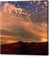 Sunset Over The Moab Rim 2 Canvas Print
