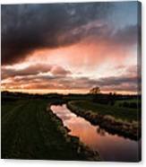 Sunset Over The River Wyre Canvas Print