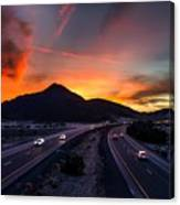 Sunset Over The Soda Mountains Canvas Print