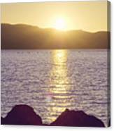 Sunset Over The Straits Canvas Print
