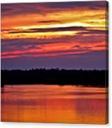 Sunset Over The Tomoka Canvas Print