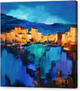Sunset Over The Village 3 By Elise Palmigiani Canvas Print