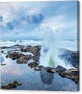 Sunset Over Thor's Well Canvas Print
