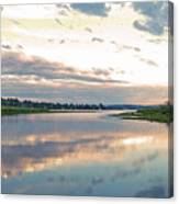 Sunset Over Union Bay Tall Panorama Canvas Print