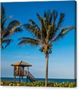 Sunset Palms Delray Beach Florida Canvas Print