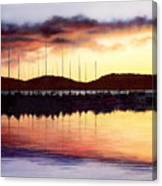 Sunset Panorama Left Side Canvas Print