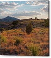 Sunset Panorama Of Blue Mountain At Davis Mountains State Park - Indian Lodge Trail Fort Davis Texas Canvas Print