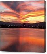 Sunset Patterns Canvas Print