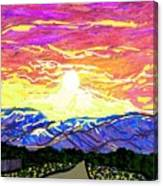 Sunset Pearblossom Highway Canvas Print
