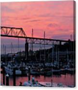 Sunset Port Canvas Print