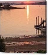 Sunset, Portland, Maine  -07817 Canvas Print