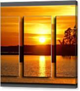 Sunset Poster Canvas Print