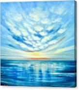 Sunset Quest Blue Canvas Print