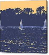 Sunset Race Canvas Print
