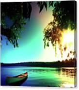 Sunset Rainbow At Kenmore Washington Canvas Print