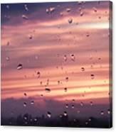 Sunset Raindrops Canvas Print