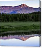 Sunset Reflections At Oxbow Bend Canvas Print