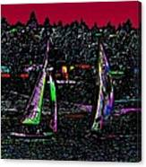 Sunset Regatta Canvas Print