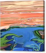 Sunset River Canvas Print