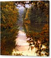 Sunset River View Canvas Print