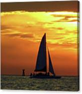 Sunset Sail Away Canvas Print
