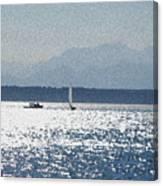 Sunset Sailboats  Canvas Print