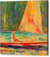 Sunset Sailor 2 Canvas Print