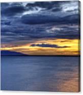 Sunset Seascape Alaska Canvas Print