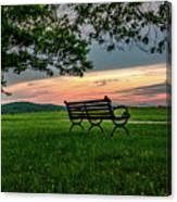 Sunset Seating Canvas Print