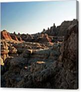 Sunset Shadows In The Badlands Canvas Print
