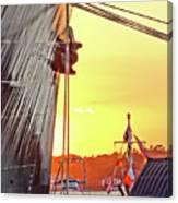 Sunset Ship Canvas Print