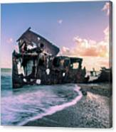 Sunset Shipwreck Canvas Print