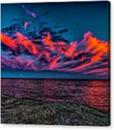 Sunset Sky At East Point Canvas Print