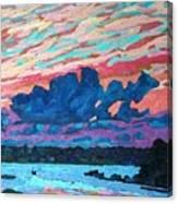 Sunset Snails Canvas Print
