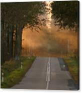 Sunset Somewhere On The Road Canvas Print