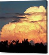 Sunset Storm Clouds Over The Marsh Canvas Print