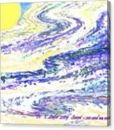 Sunset-sun And Sea Meeting Canvas Print