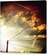 #sunset #sun #tagsforlikes.com #tflers Canvas Print