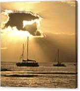 Sunset Surfer Canvas Print