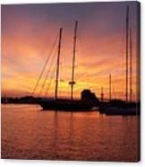 Sunset Tall Ships Canvas Print