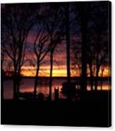 Sunset Thru The Trees Canvas Print