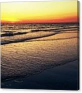 Sunset Time On Sunset Beach Canvas Print