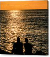 Sunset Together In Key West Canvas Print