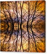 Sunset Tree Silhouette Abstract 1 Canvas Print