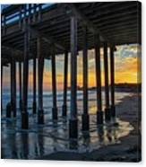 Sunset Under The Ventura Pier Canvas Print