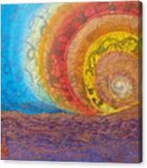 Sunset Unfurls Over Purple Sea Canvas Print