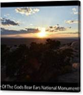 Sunset Valley Of The Gods Utah 01 Text Black Canvas Print